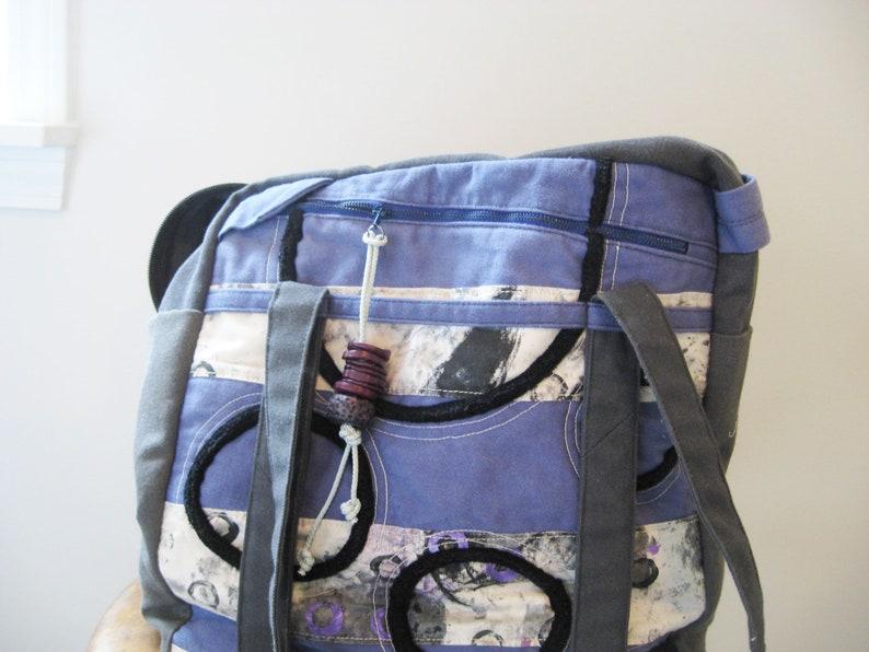 Utility Bag Hobby Supply Carryall bag Upcycled Bag Bag image 0