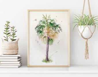 Original Palm Watercolor