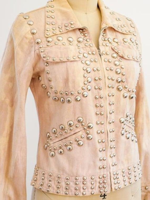 RONCELLI Studded Jacket/ Brushed Denim/ 1960s/ 197