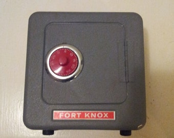 Vintage Fort Knox Safe Coin Bank