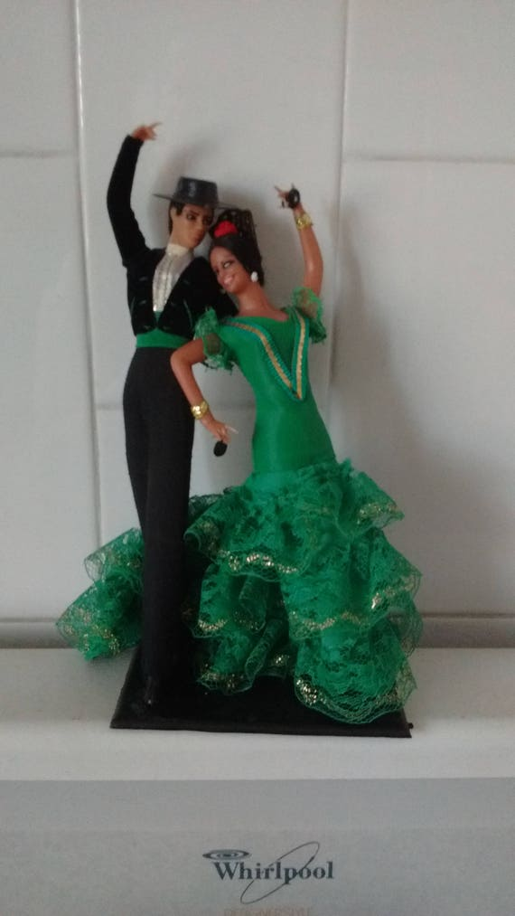 Vintage Spanish Marin Chiclana Plastic Couple Doll Flamenco Etsy