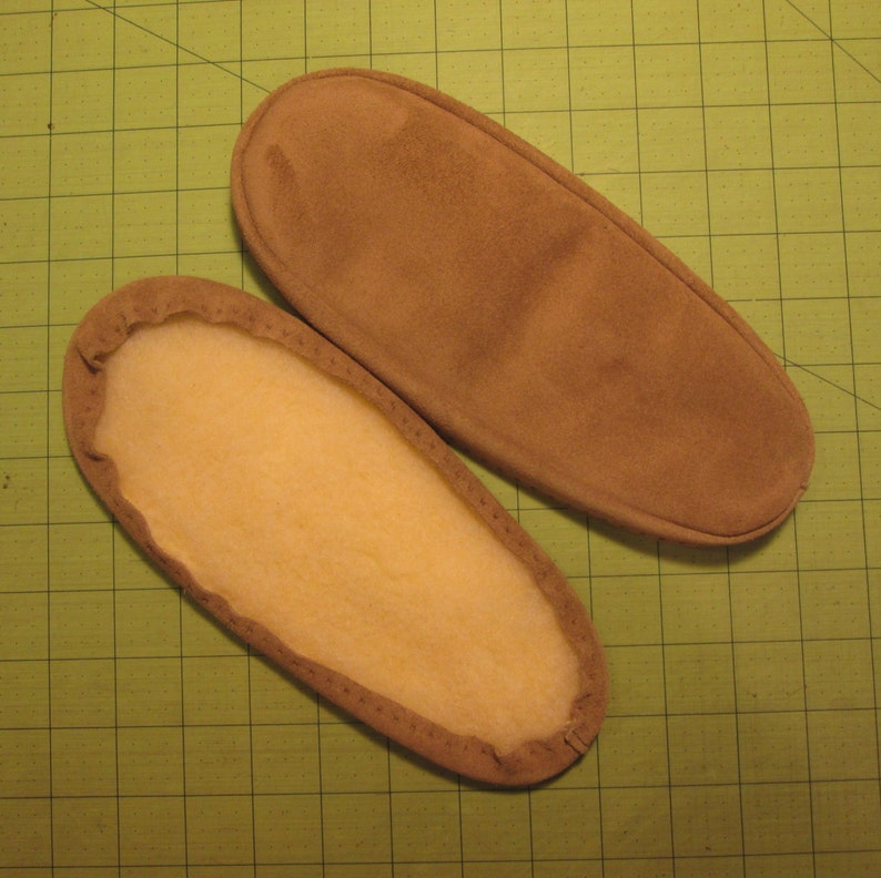 af250910b4f Suede Slipper Soles with Fleece Lining in 7 Colors