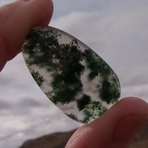 16.50 Ct Pendant Size Moss Agate Loose Gemstone 24x19x5MM A++ Quality Moss Agate Cabochon Gemstone Marvelous Moss Agate Gemstone