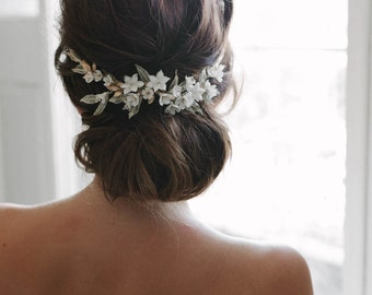 VERSAILLES | floral bridal comb, floral wedding hair piece
