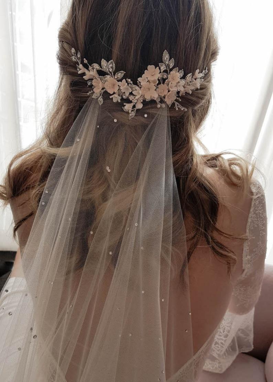 Wisteria Blush Wedding Headpiece Bridal Hair Piece Etsy