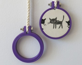 Mini Embroidery Hoop 40mm, PURPLE Hoop, Miniature Hoop For Necklace, Display and Embroidery 3d Printed Free Shipping Australia