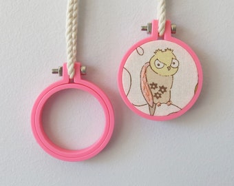Mini Embroidery Hoop 40mm, PINK Hoop, Miniature Hoop For Necklace, Display and Embroidery 3d Printed Free Shipping Australia