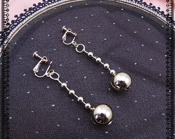 Handmade ear clips earrings brass