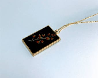Pressed Wildflower Necklace