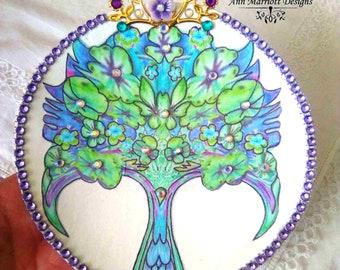 Handmade Tree Of Life Jewellery Ring Dish Trinket Dish Key Holder and Keyring