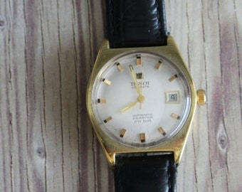 Vintage Tissot Visodate Swiss Wrist Watch by avintageobsession on etsy...FREE USA Shipping