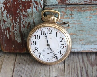 Antique Illinois Pocket Watch 1921 by avintageobsession on etsy....FREE USA Shipping