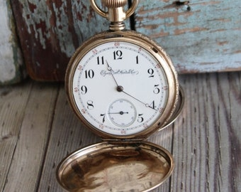 Antique Hunter Case 1884 Elgin Pocket Watch by avintageobsession on etsy...FREE USA Shipping