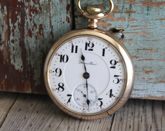 Antique Hamilton Pocket Watch by avintageobsession on etsy...FREE USA Shipping