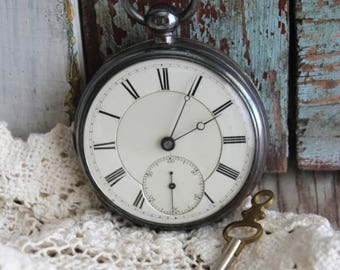 Antique American Waltham 1870 Pocket Watch with Silver Case by avintageobsession on etsy...FREE USA Shipping