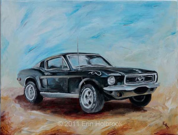 Car Portraits Custom Classic Car Painting Vintage Car Art Etsy