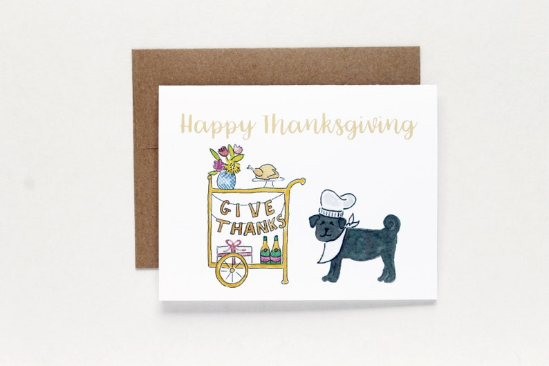 Thanksgiving Give Thanks Card Thanksgiving Card