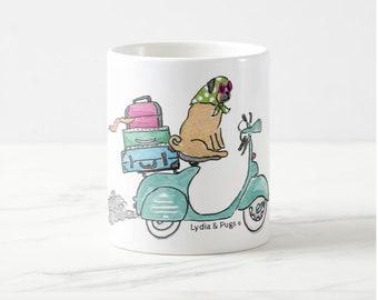 Pug Vespa Mug