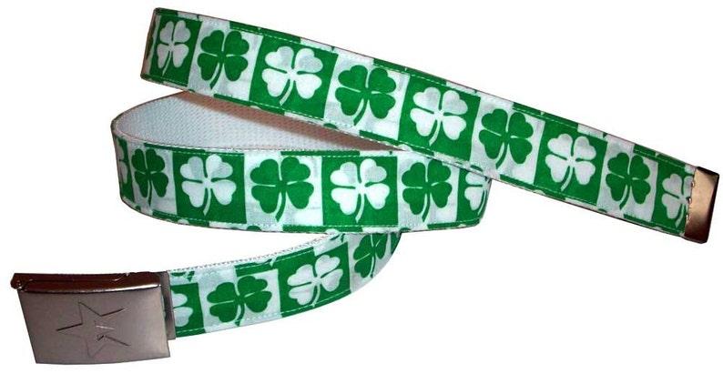 St. Patricks Day Lucky 13 Clover BELT Shamrock Ireland image 0
