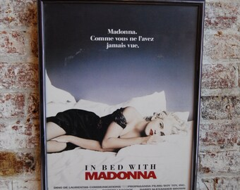 Vintage French Madonna Poster, In Bed with Madonna, Truth or Dare