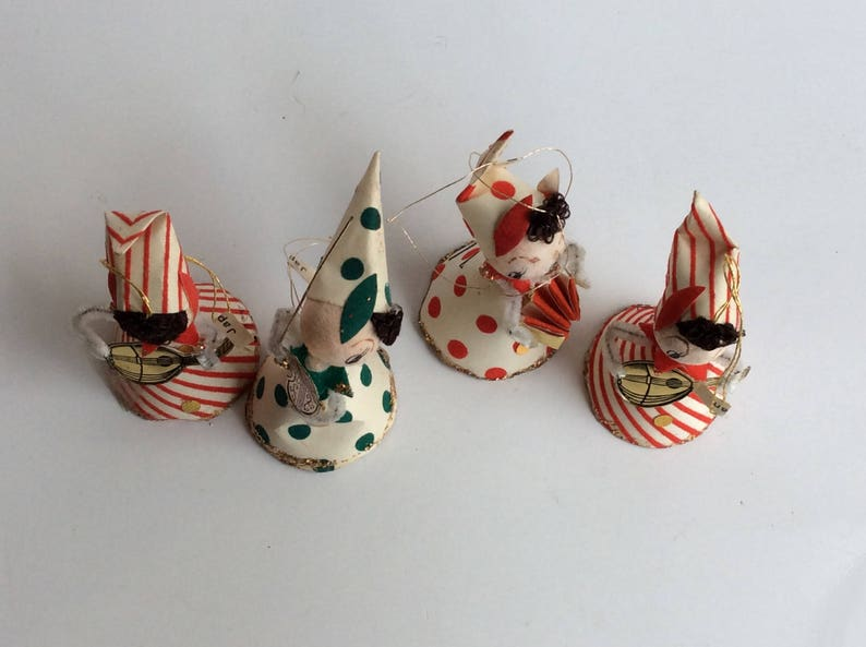 Vintage Collection of Paper Christmas Ornaments made in Japan