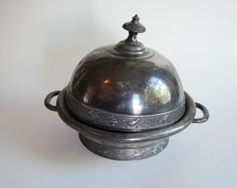 Vintage Metal Covered Dish