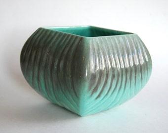 Vintage Pottery Planter, Home Decor, Green