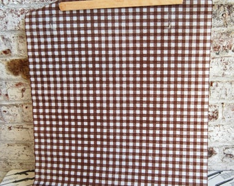 Vintage Brown and White Check Vinyl/Plastic Drawer Liner