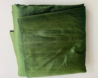 Vintage Fabric, Green, Slightly Textured