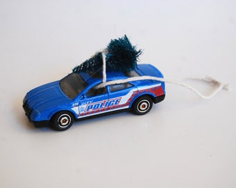Vintage Toy Car Christmas Ornament, Bringing Home the Tree