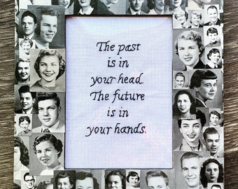 The future is in your hands - framed hand embroidery