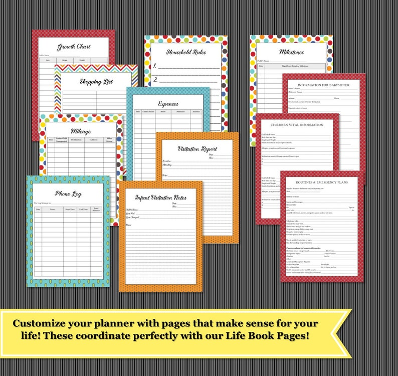 Foster Parent Care Planner Binder Organizer Pages 38 Pages