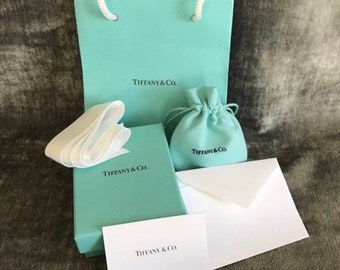 b24f03e13b8 Authentic Tiffany & Co Empty Presentation FULL SET - Blue Box,Pouch,  Ribbon, Gift Bag and card