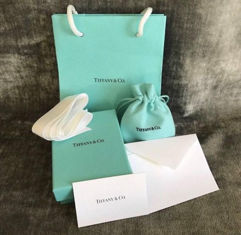 edf8579df6f83 Authentic Tiffany & Co Empty Presentation FULL SET - Blue Box,Pouch,  Ribbon, Gift Bag and card