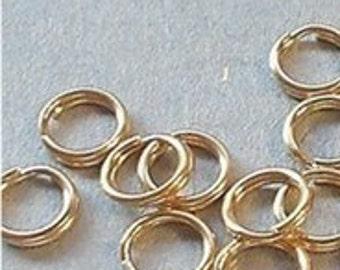Gold filled Split Rings  4.85mm (10)