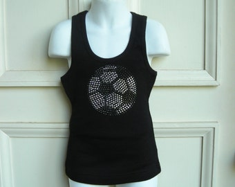 Soccer Ball Youth/Girls Tank Top