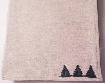 Holiday Adorned Linen Napkins set of 4