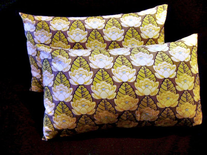 12 x 18 Pillow Cover Gray Lotus by Lilikins Baby  Home image 0