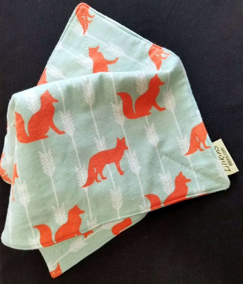Fox on Point  Flannel Security Blanket image 0