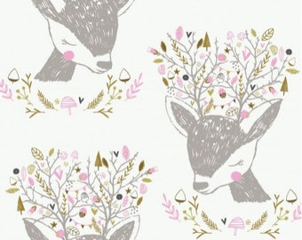 Hello My Deer Portrait #2143701 by Camelot Fabric 1 Yard