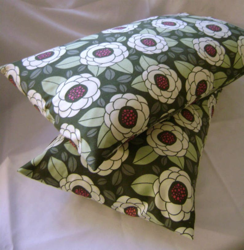 12 x 20 Pillow Cover Thyme Ginseng Bloom by Lilikins Baby  image 0