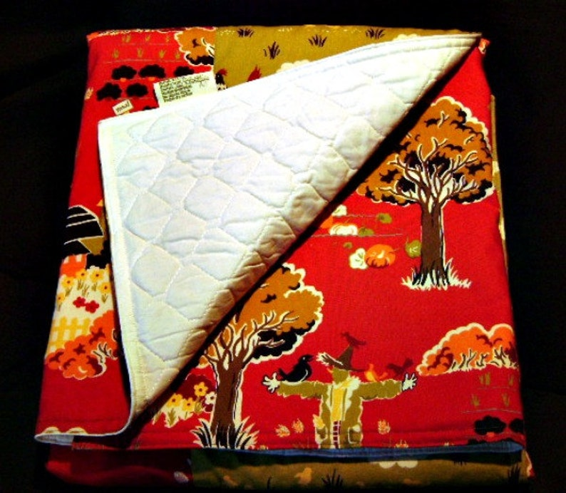 Farmyard with Chickens   Baby / Toddler Quilt image 0