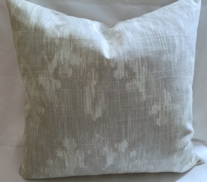 18 x 18 Pillow Cover Ikat Dove Gray image 0