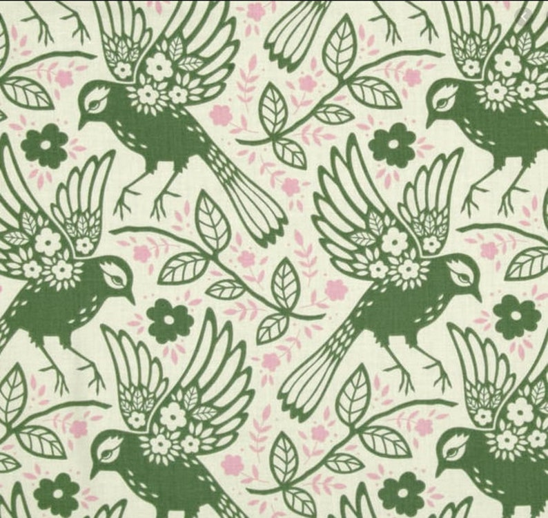 1 1/2 Yards Free Spirit Up Parasol by Heather Bailey LODEN image 0