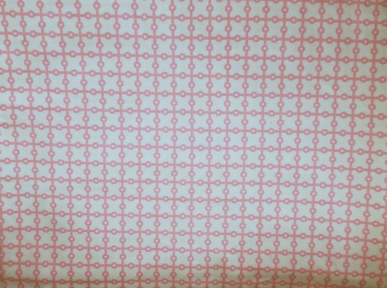 Michael Miller Pillow and Maxfield Dottie Grid Pink  Pattern image 0
