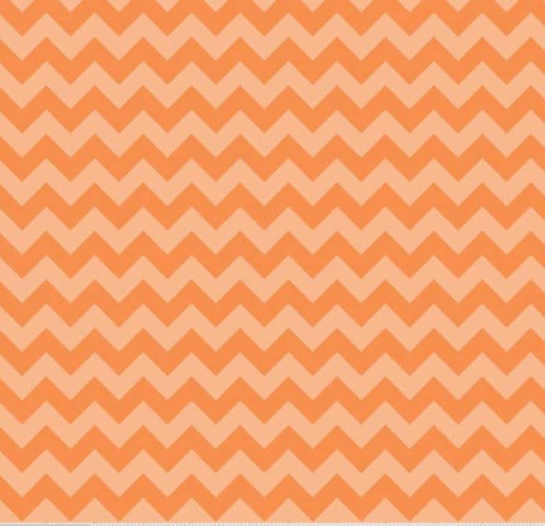 1 Yard Riley Blake Small Chevron C400 Orange 100% Cotton image 0