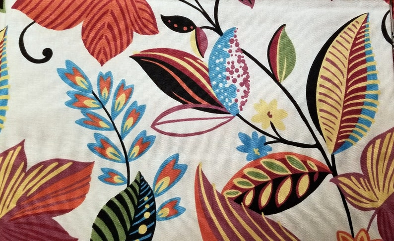 1 1/2 Yards Richloom Floral Screenprint Fabric 56 inches wide image 0