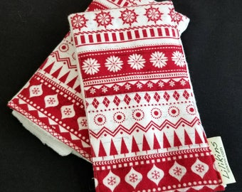 Holiday Burp Cloths - Holiday Sweater (set of 2)