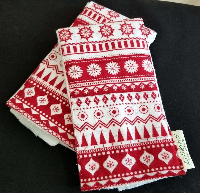 Holiday Burp Cloths  Holiday Sweater set of 2 image 0