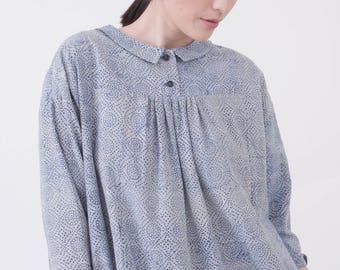 Block printed dress - Indigo